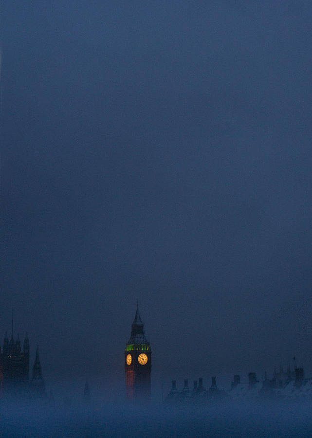 Big Ben Photograph - Big Ben On A Wintery Day by Lenny Carter