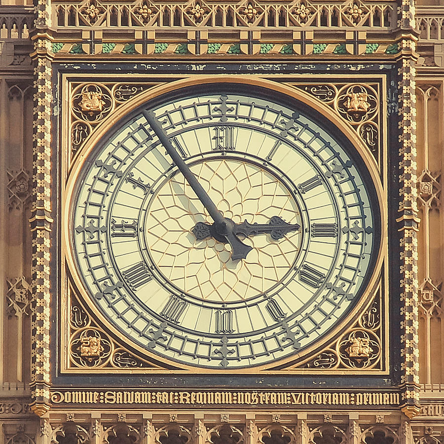 Big Ben Tower Clock Face Close Up Photograph by Sherif A. Wagih (s.wagih@hotmail.com)
