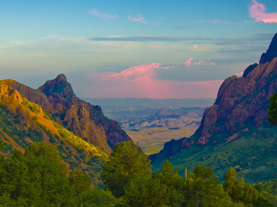 Big Bend Texas from the Chisos Mountain Lodge Photograph ...