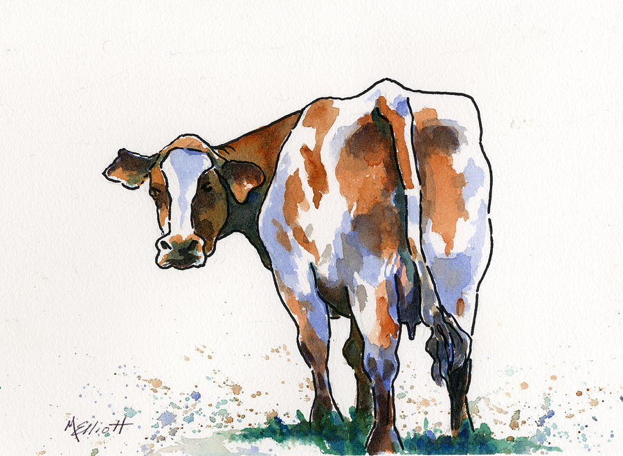 Cow Painting - Big Bertha by Marsha Elliott