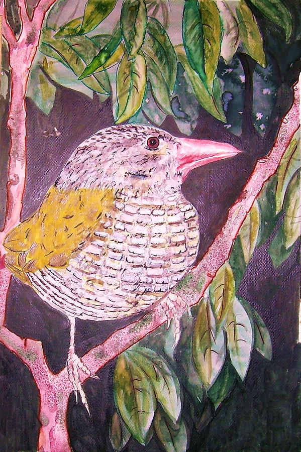 Bird In Tree Painting - Big Bird by Linda Vaughon