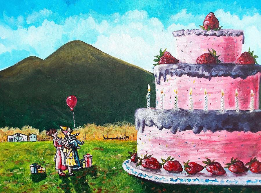 Birthday Painting - Big Birthday Surprise by Shana Rowe Jackson