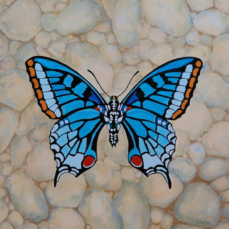 Big Blue Butterfly by Jo Appleby