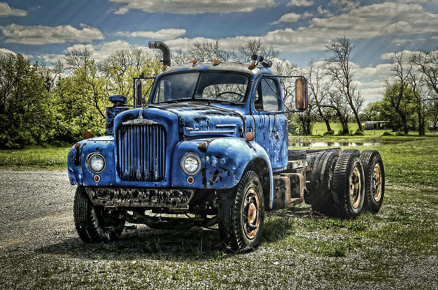 1958 Photograph - Big Blue Mack by Ken Smith
