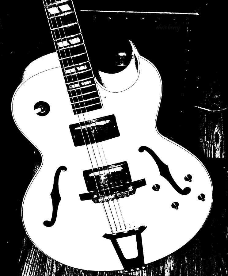Guitar Photograph - Big Ol Gibson by Chris Berry