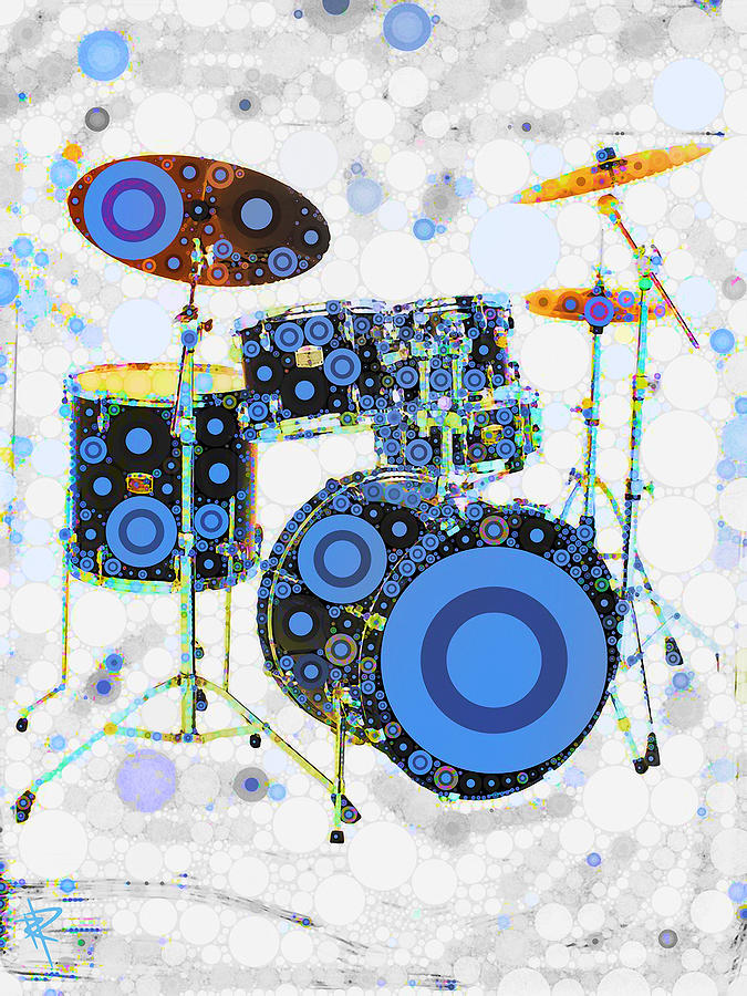 Drums Mixed Media - Big Boom Bullseye by Russell Pierce