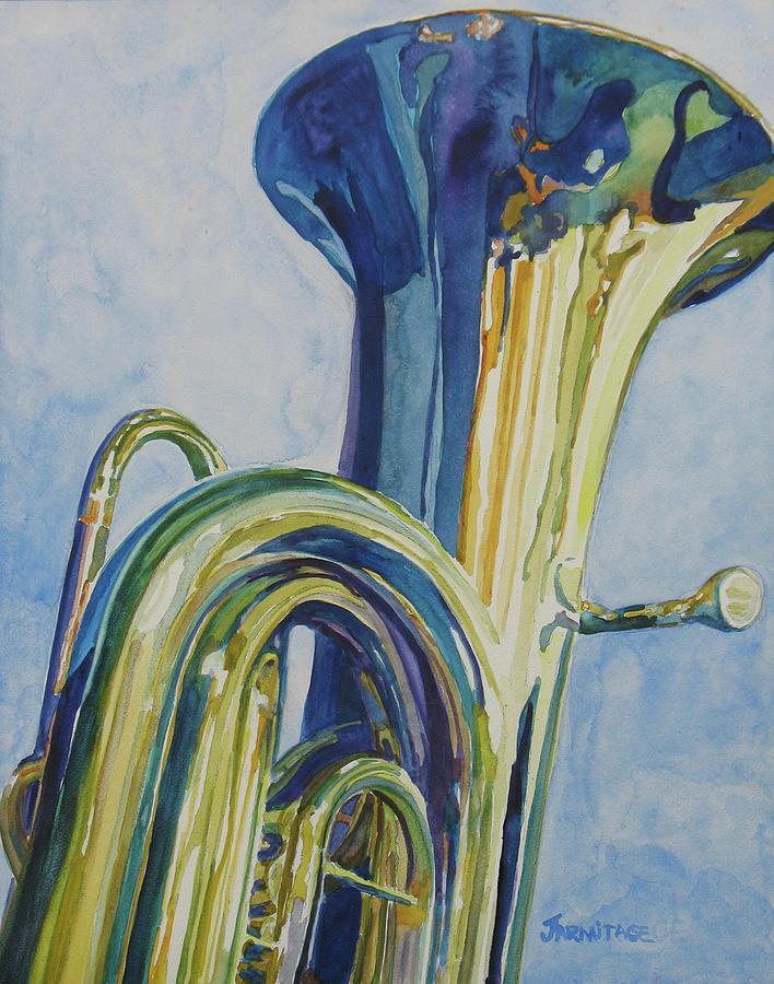 Tuba Painting - Big Boy by Jenny Armitage