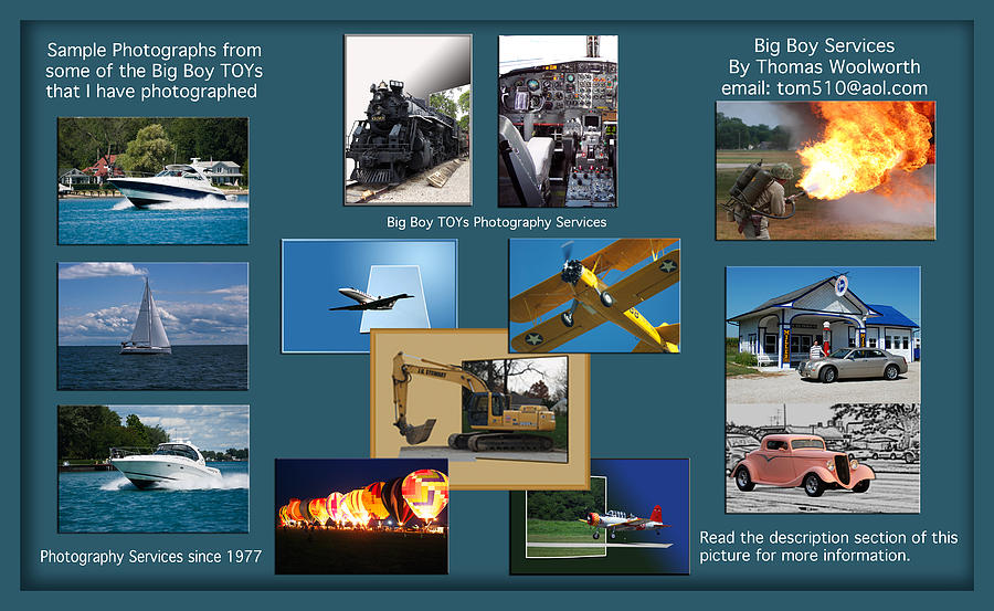 Big Boy Toys Photograph - Big Boy Toys Photography Services by Thomas Woolworth