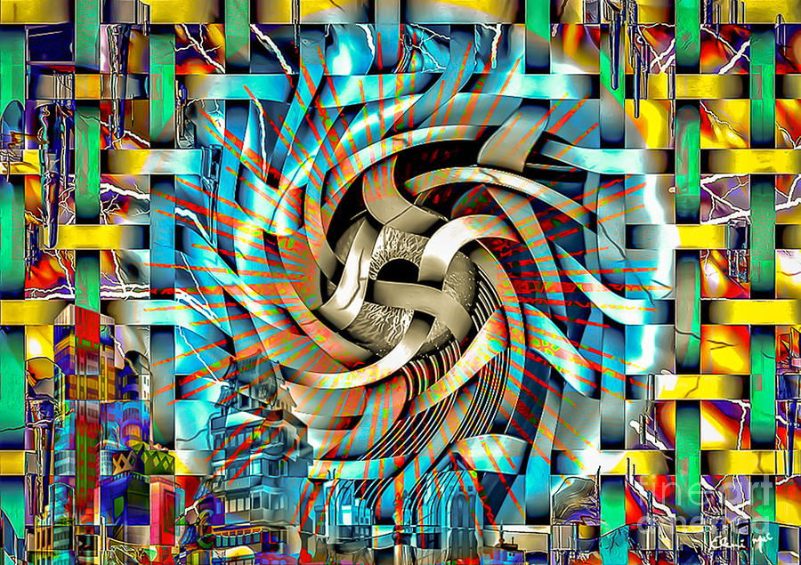 Abstract Digital Art - Big Brother  by Eleni Mac Synodinos