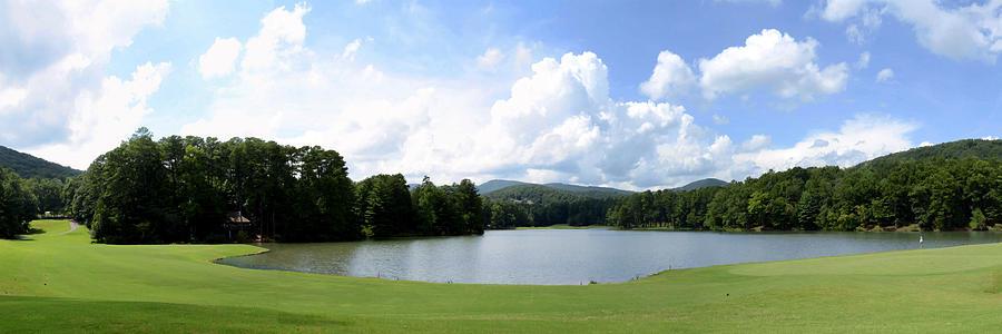 Panorama Digital Art - Big Canoe Golf by Bob Jackson