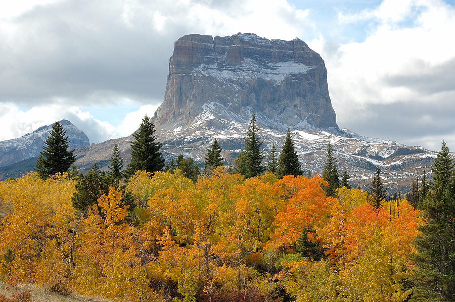 Landscapes Photograph - Big Chief Mountain - The Rock Of Legend by Clay and Gill Ross