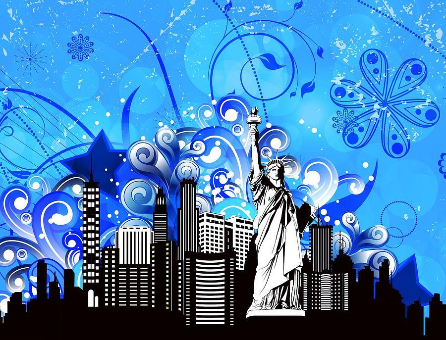 Big City Blues 4 Liberty Digital Art by Stanley Mathis