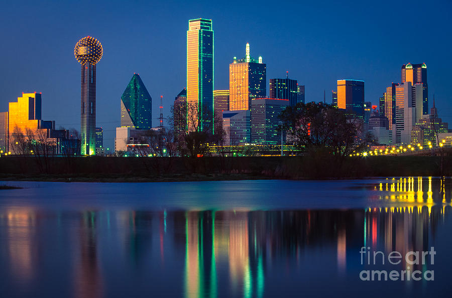 Dallas Photograph - Big D Reflection by Inge Johnsson