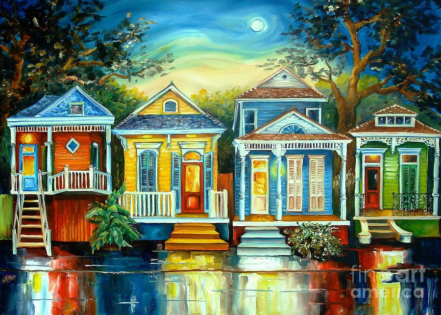 Big easy moon painting by diane millsap for House painting images