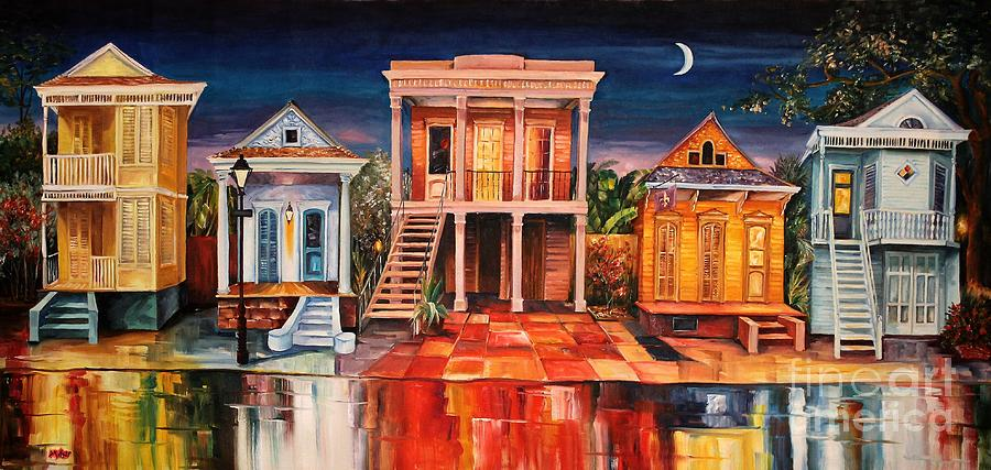 New Orleans Painting - Big Easy Night by Diane Millsap