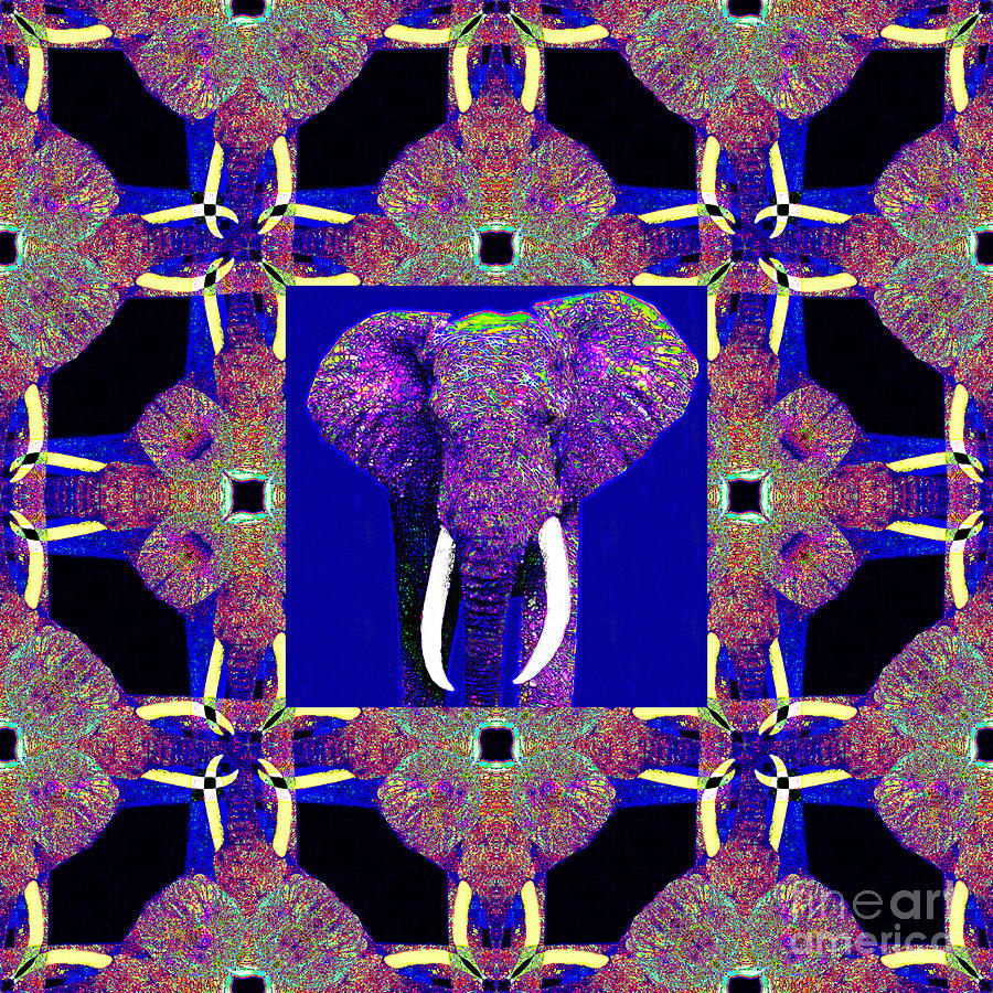 Elephant Photograph - Big Elephant Abstract Window 20130201m118 by Wingsdomain Art and Photography
