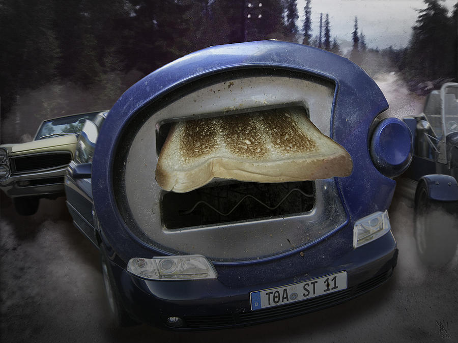 Car Digital Art - Big Fat Mouth by Nafets Nuarb