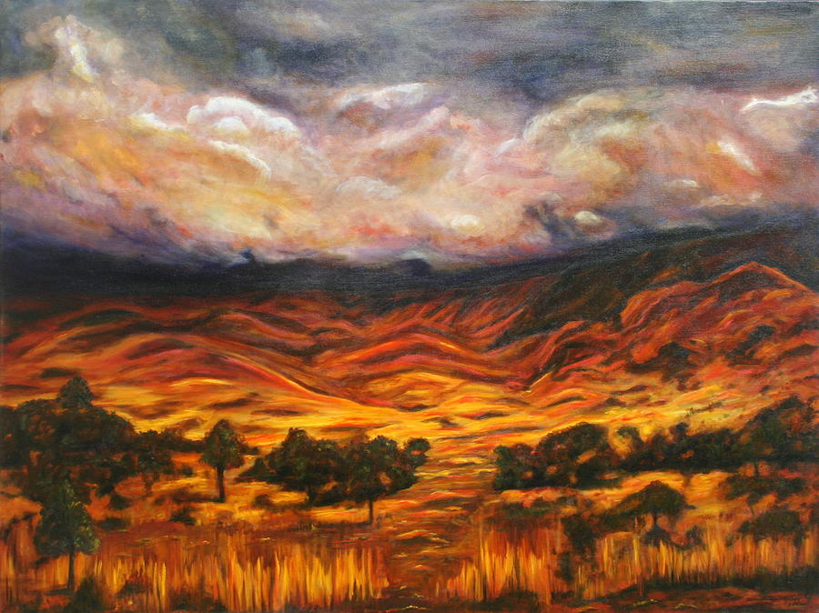 Australia Painting - Big Gountry - Mac Donnell Ranges Australia by Lyndsey Hatchwell