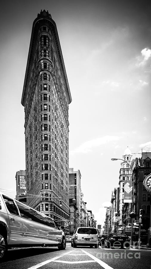 Nyc Photograph - Big In The Big Apple - Bw by Hannes Cmarits