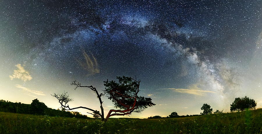 Panoramas Photograph - Big Meadows Milkyway  by Andrew Fritz