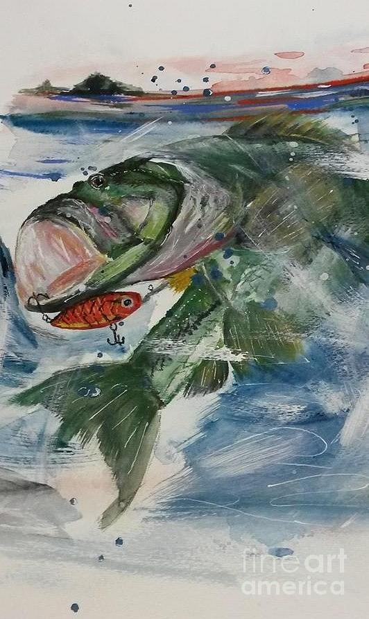 Big Mouth Painting By Susan Voidets
