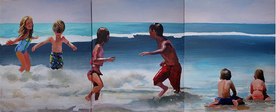 Ocean Painting - Big One Coming by Geoff Greene