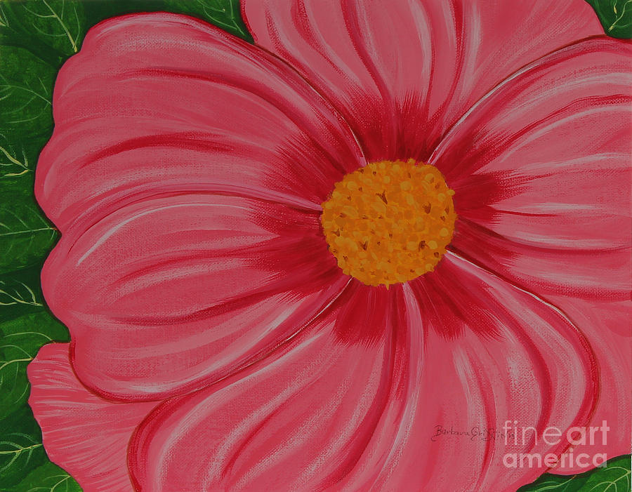 Big Pink Flower Florist Gardener Painting By Barbara Griffin