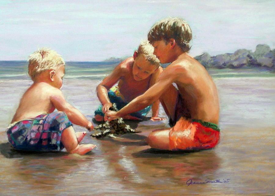 Kids Pastel - Big Plans by Jeanne Rosier Smith