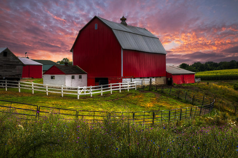 Appalachia Photograph - Big Red At Sunset by Debra and Dave Vanderlaan
