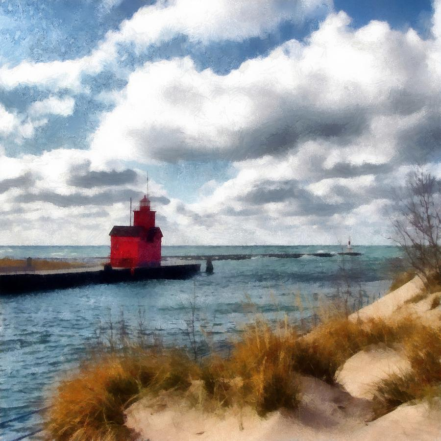 Big Red Big Wind Photograph by Michelle Calkins