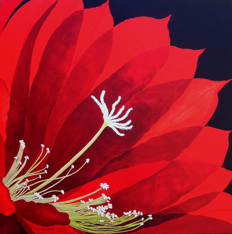 Red Painting - Big Red by Carol Sabo