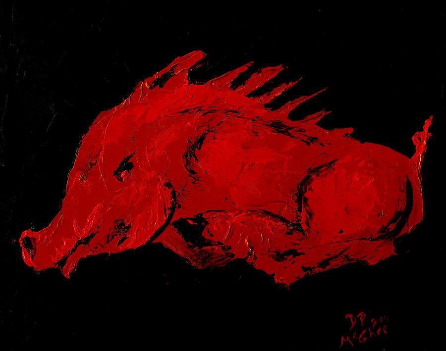 Hog Painting - Big Red by David McGhee