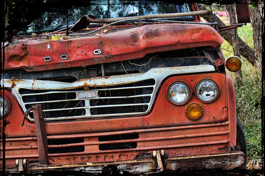 Truck Photograph - Big Red Dog by Sylvia Thornton