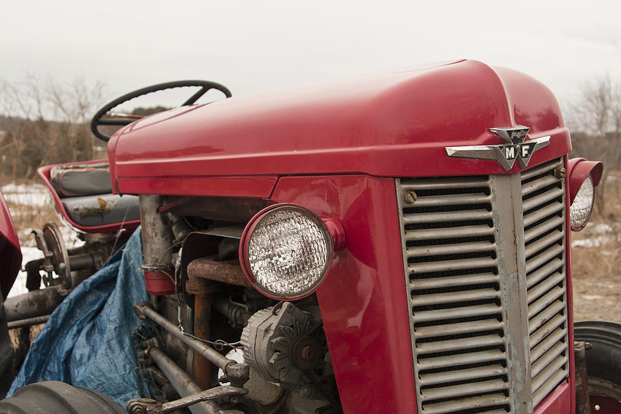 Tractor Photograph - Big Red  by Eugene Bergeron
