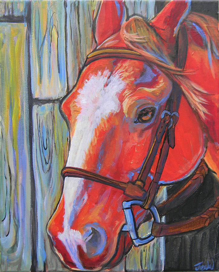 Horse Painting - Big Red by Jenn Cunningham