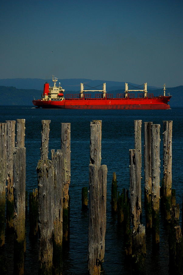 Astoria Photograph - Big Red by Mamie Gunning