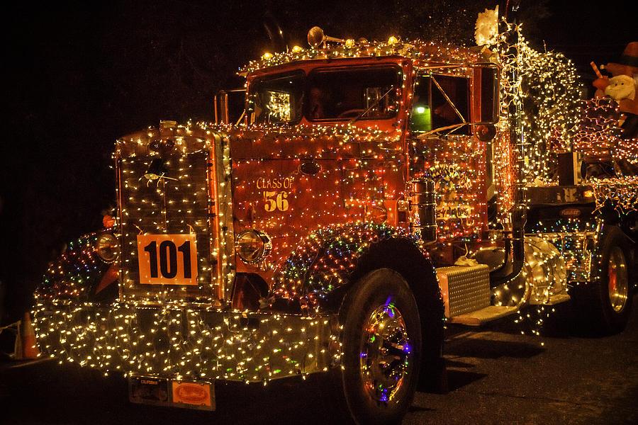 big rig photograph big rig with christmas lights by garry gay - Amber Christmas Lights