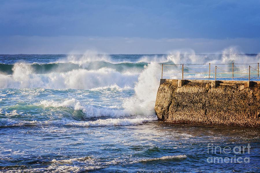 Australia Photograph - Big  Sea At Bondi Beach Australia by Colin and Linda McKie
