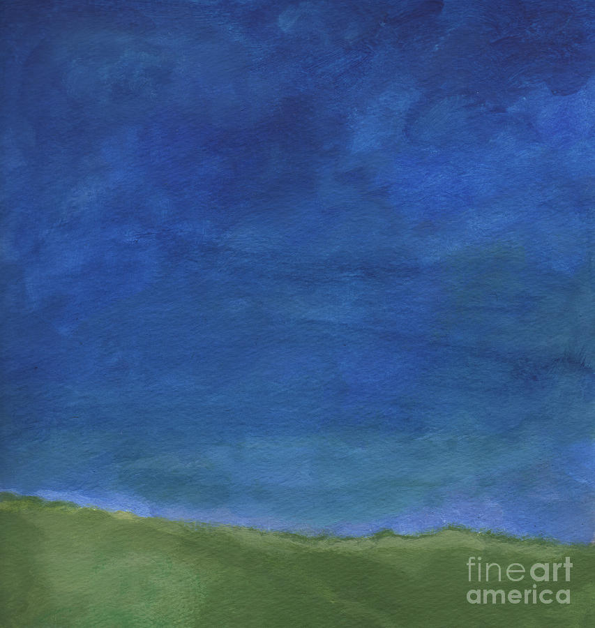Sky Painting - Big Sky by Linda Woods