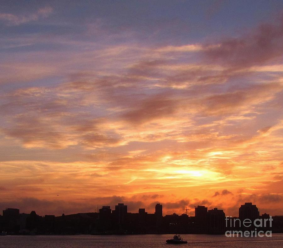 Halifax Nova Scotia Photograph - Big Sky Over Halifax Harbour by John Malone