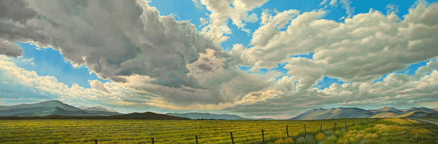 Landscape Painting - Big Sky by Paul Krapf