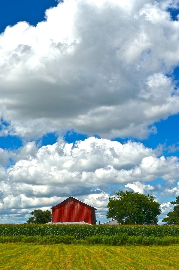 Farm Photograph - Big Sky by Frozen in Time Fine Art Photography