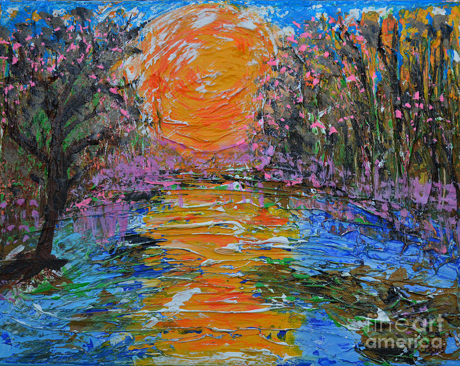 Landscape Painting - Big Sun by Alys Caviness-Gober