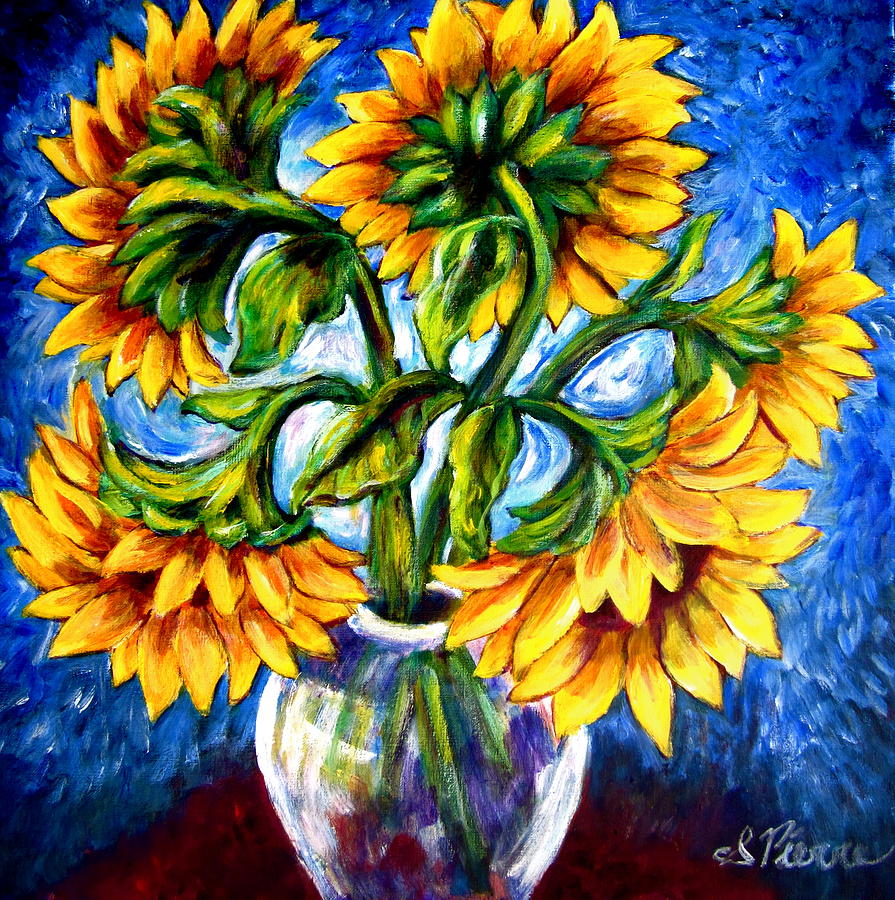 Sun Painting - Big Sunflowers by Sebastian Pierre