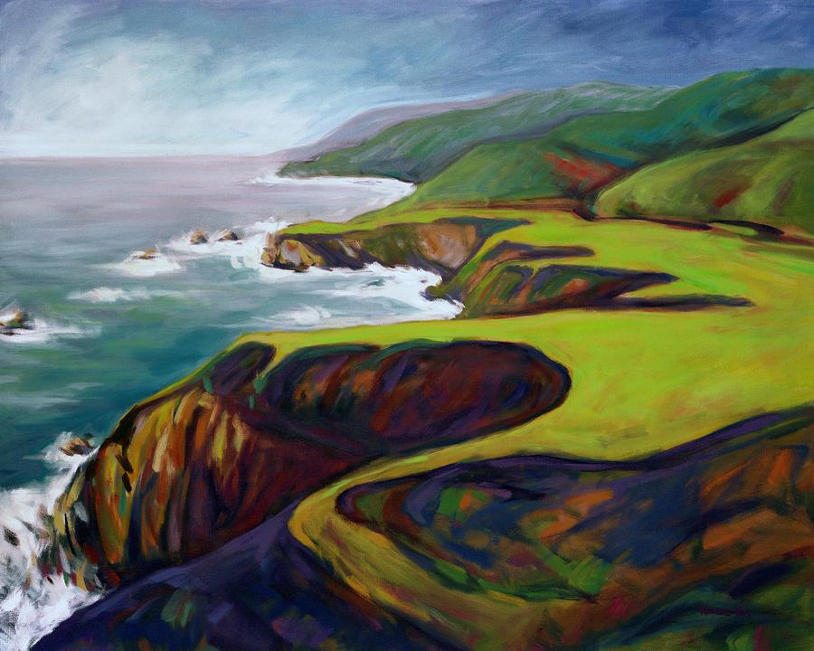 Big Painting - Big Sur California 2 by Konnie Kim