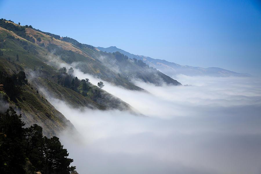 Us Photograph - Big Sur Fog by Mathew Lodge