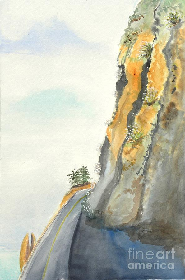 Rocky Point Painting - Big Sur Highway One by Susan Lee Clark
