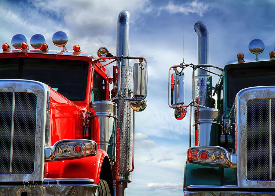 Transportation Photograph - Big Trucks by Bob Orsillo