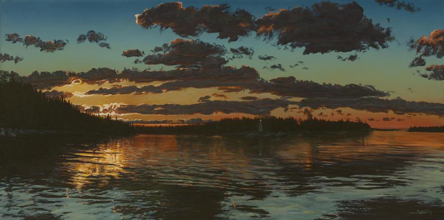Big Tub Painting - Big Tub Sunset by Michael Marcotte