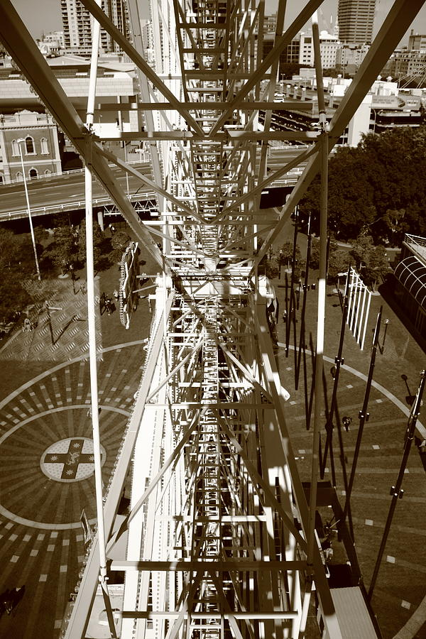 Ferris Wheel Photograph - Darling Harbour Big Wheel.  by Debbie Cundy